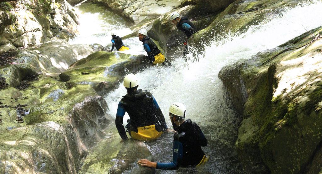 Canyoning au canyon de Balme entre amis
